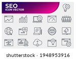 set of seo icon. search engine... | Shutterstock .eps vector #1948953916