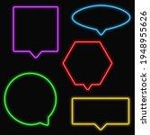 set of neon speech bubbles ...   Shutterstock .eps vector #1948955626