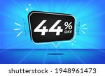 44  off. blue banner with forty ... | Shutterstock .eps vector #1948961473