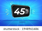 45  off. blue banner with forty ... | Shutterstock .eps vector #1948961686