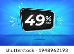 49  off. blue banner with forty ... | Shutterstock .eps vector #1948962193