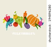 vector color vegetables icon.... | Shutterstock .eps vector #194896280