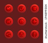 set of red vector elements for...