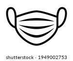 medical face mask or surgical... | Shutterstock .eps vector #1949002753
