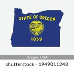oregon map flag. map of or  usa ... | Shutterstock .eps vector #1949011243