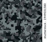 digital black pixel camouflage... | Shutterstock .eps vector #1949031580