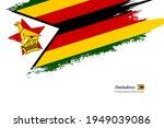stylish brush flag of zimbabwe. ... | Shutterstock .eps vector #1949039086
