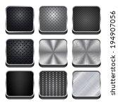 vector metal app icons | Shutterstock .eps vector #194907056
