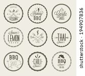 sauce labels set | Shutterstock .eps vector #194907836