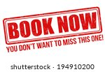 book now grunge rubber stamp on ... | Shutterstock .eps vector #194910200
