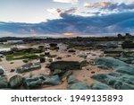 Sunrise Seascape With Sunrays...