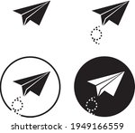 paper airplane  perfect for... | Shutterstock .eps vector #1949166559