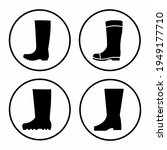 rubber boots icon vector... | Shutterstock .eps vector #1949177710