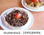Lebanese Food Hummus Dish With...