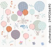 collection of vector hand drawn ... | Shutterstock .eps vector #1949206690