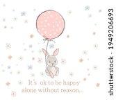 cute vector rabbit illustration ... | Shutterstock .eps vector #1949206693