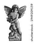 Angel Child Sitting  Cute Cupid ...