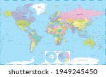 world map political and the... | Shutterstock .eps vector #1949245450