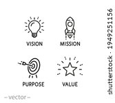 mission vision icon  value...   Shutterstock .eps vector #1949251156
