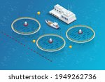 isometric fish industry seafood ...   Shutterstock .eps vector #1949262736