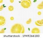 fresh lemon fruit with green...   Shutterstock .eps vector #1949266183