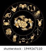 pisces vector of astrology...   Shutterstock .eps vector #1949267110