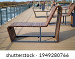 Wooden Sun Loungers On The...