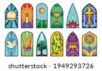 Stained Glass Vector Cartoon...