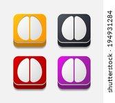 square button  brain | Shutterstock .eps vector #194931284