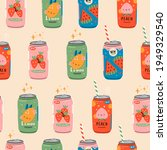 various tasty sodas. soft... | Shutterstock .eps vector #1949329540