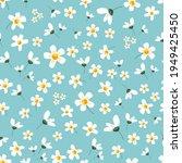 floral romantic seamless...   Shutterstock .eps vector #1949425450
