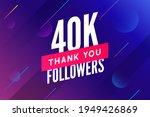 40000 followers vector.... | Shutterstock .eps vector #1949426869