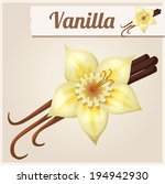 vanilla. detailed vector icon.... | Shutterstock .eps vector #194942930