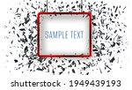 abstract banner frame. particle ...   Shutterstock .eps vector #1949439193