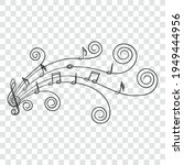 music notes  doodle style with...   Shutterstock .eps vector #1949444956