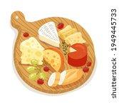 cheese set. gourmet composition ... | Shutterstock .eps vector #1949445733