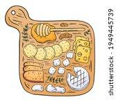 cheese set. gourmet composition ... | Shutterstock .eps vector #1949445739