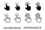 hand cursor icon set. cursor... | Shutterstock .eps vector #1949446519