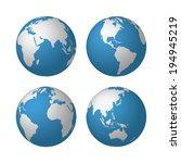 globes. raster version | Shutterstock . vector #194945219