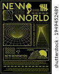 new world text with grid vector ... | Shutterstock .eps vector #1949452489