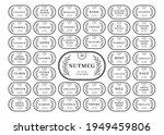 kitchen seasoning label sticker ... | Shutterstock .eps vector #1949459806