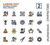 icon set labor day made with...