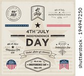 4th of july  usa independence... | Shutterstock .eps vector #194947250