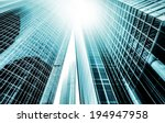 panoramic and perspective wide...   Shutterstock . vector #194947958
