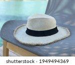 beautiful white panama hat on...   Shutterstock . vector #1949494369