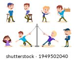 group of boys in different...   Shutterstock .eps vector #1949502040