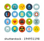 flat icons set 15   science and ... | Shutterstock .eps vector #194951198