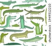 crocodile cute characters.... | Shutterstock .eps vector #1949512210