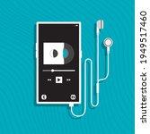 mobile phone retro vinyl record ... | Shutterstock .eps vector #1949517460