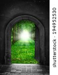 portal to freedom   hope concept | Shutterstock . vector #194952530